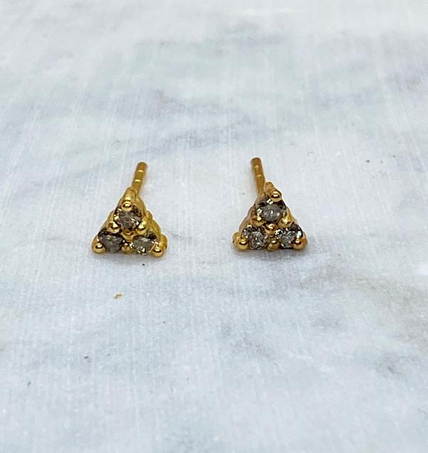 ørestikker med 3 diamanter
