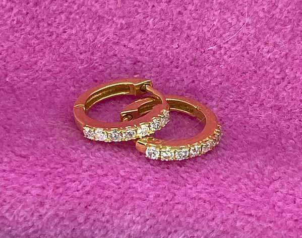 Mini hoops med diamanter